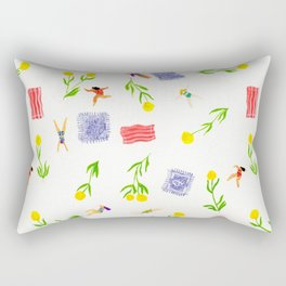 Orange Bloom Rectangular Pillow