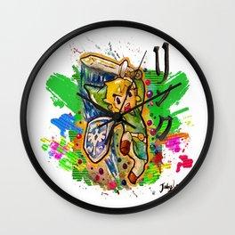 Original - Link - Watercolor Poster Painting - Legend of Zelda Wall Clock