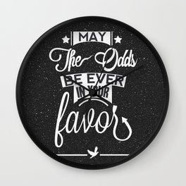 May the odds be ever in your favor. Wall Clock