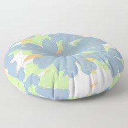 Primroses  Orange Flamingos Floor Pillow