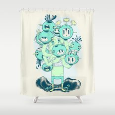 Many Heads are Better than None Shower Curtain