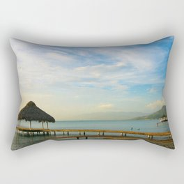 Travel Photography : Ocoa Beach in Dominican Republic Rectangular Pillow