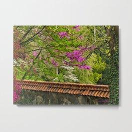 Biltmore Garden Wall Metal Print