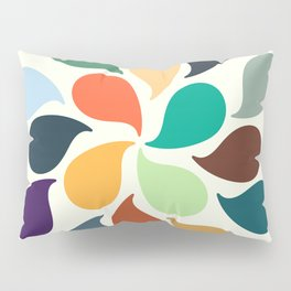 Colorful Water Drops Pillow Sham