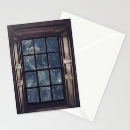Space view Window-Moon shine Stationery Cards