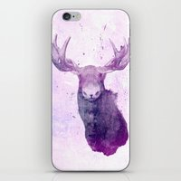 springsteen iPhone & iPod Skins featuring Moose Springsteen by Lucy Evans