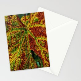 Close Up Of Colourful Leaf veins Stationery Cards