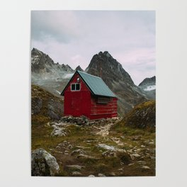 The Mint Hut in Hatcher Pass, Alaska Poster