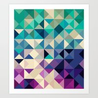 Feeling Triangle Art Print