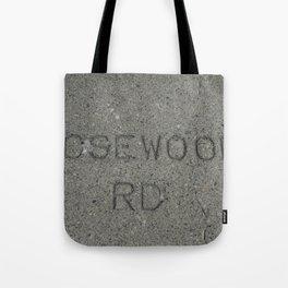 Rosewood Rd sidewalk stamp Tote Bag