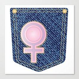 Venus Denim Pocket Canvas Print