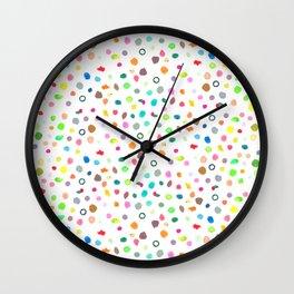 Little Paint Dots Wall Clock