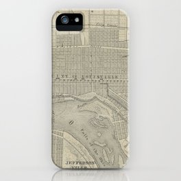 Vintage Map of Louisville KY (1870) iPhone Case