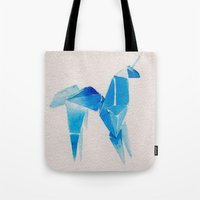 blade runner Tote Bags featuring Blade Runner| Unicorn by Eazy Verdeacqua