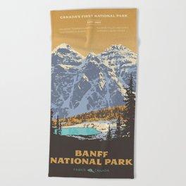 Banff National Park Beach Towel