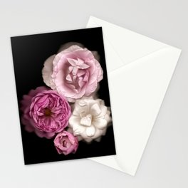 Purple, Pink, and White Roses Stationery Cards