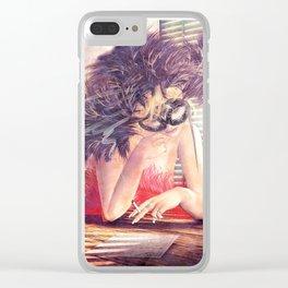 Painted Fan Dancer - Love Letters & Cigarettes Clear iPhone Case