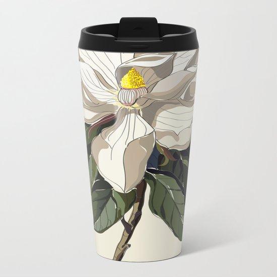 Within a Flower Metal Travel Mug