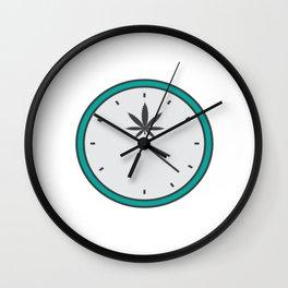 Time Clock 420 Adults Green Cannabis Shirt Weed T-shirt Design Marijuana Medication Legalized Wall Clock