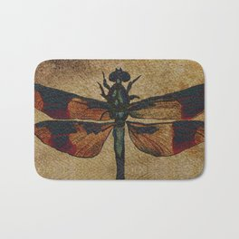 Dragonfly Mirrored on Leather Bath Mat