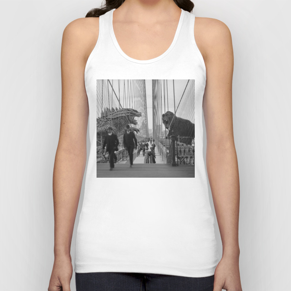 Old Time Godzilla Vs. King Kong Unisex Tank Top by Taylor_holmes TNK6850196