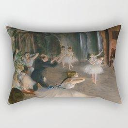 "Edgar Degas ""The Rehearsal Onstage"" Rectangular Pillow"