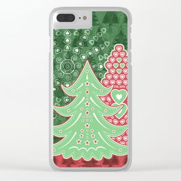 Xmastrees_04a Clear iPhone Case