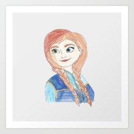 Anna Frozen Art Print