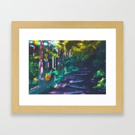 Viridian Forrest - Kanto in real life Framed Art Print