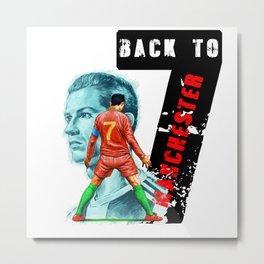 C.r.7 R.o.n.a.l.d.o Back To Manchester M.U Essential Metal Print