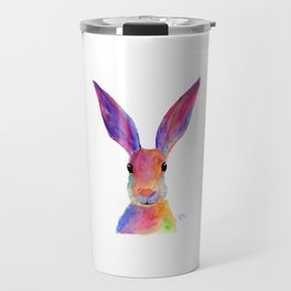 HaRe RaBBiT BuNNY PRiNT ' THe HaPPY HaReS ' BY SHiRLeY MacARTHuR Travel Mug