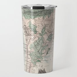 Vintage Map of South America (1858) Travel Mug