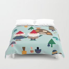 gnome blue Duvet Cover
