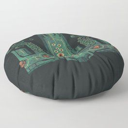 The Crown of Cthulhu Floor Pillow