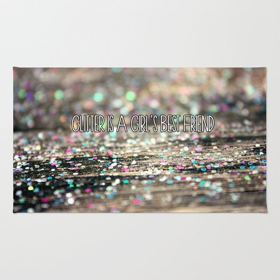 Glitter is a Girl's Best Friend Rug