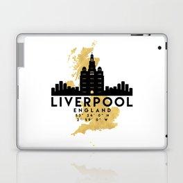 LIVERPOOL ENGLAND SILHOUETTE SKYLINE MAP ART Laptop & iPad Skin
