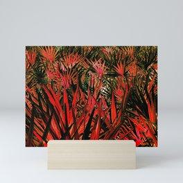 Red and green scrub Mini Art Print