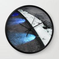 borderlands Wall Clocks featuring Borderlands Renewed by Julie Maxwell