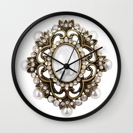Painted Royal Brosche Wall Clock