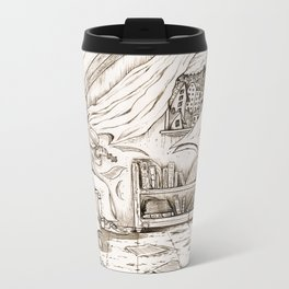 "H.P. Lovecraft's ""The Music of Erich Zann"" Travel Mug"