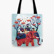 A Colorful Ride Tote Bag