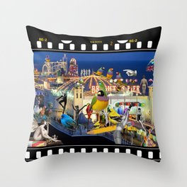 Welcome to Brighton Throw Pillow