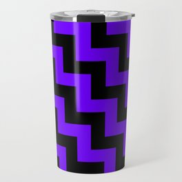 Black and Indigo Violet Steps LTR Travel Mug