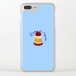 Bell and blue ribbon Clear iPhone Case