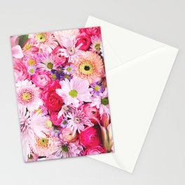 Bloom Bright Flower Photography Flat Lay Stationery Cards