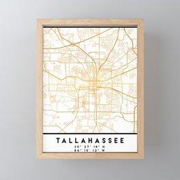TALLAHASSEE FLORIDA CITY STREET MAP ART Framed Mini Art Print