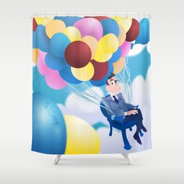 Publicity Stunt Shower Curtain