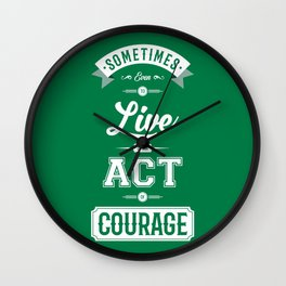 Lab No. 4 Sometimes Even Seneca Inspirational Quote Wall Clock