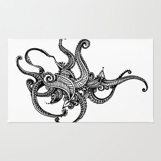 Henna Octopus  Rug