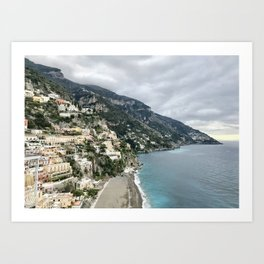 Positano, by the sea Art Print